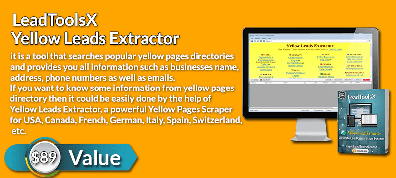 LeadToolsX Yellow Leads Extractor