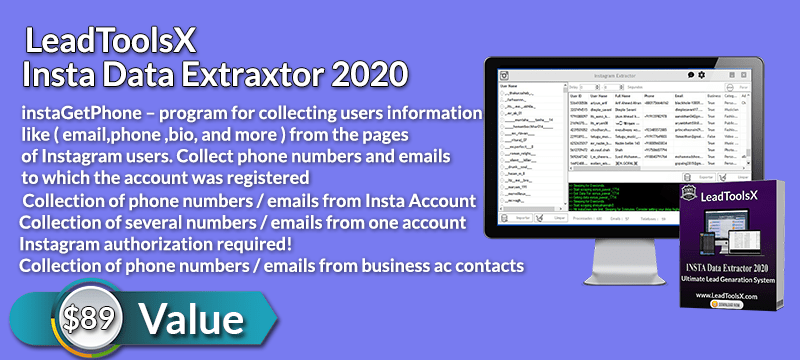 LeadToolsX Insta Data Extractor