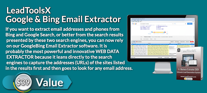 LeadToolsx Google & Bing Email Extractor